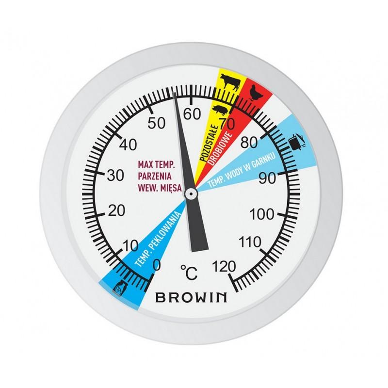 Termometras 0,8 kg slėginei kumpio viryklei, 0–120 ° C