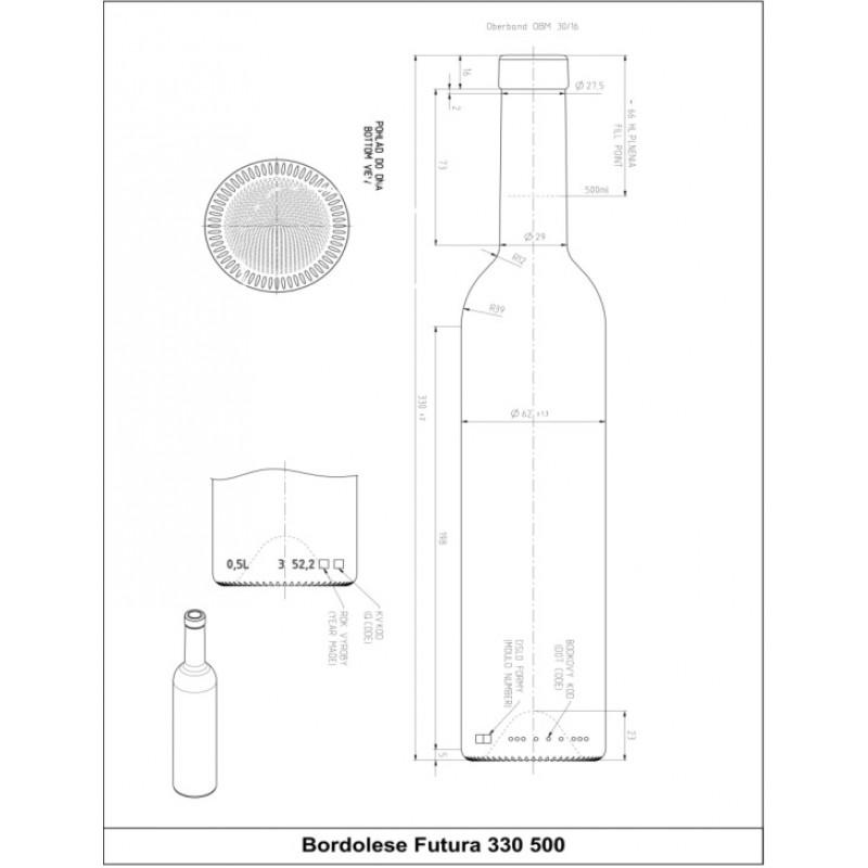 Butelis SKAIDRUS 0,5ltr. FUTURA