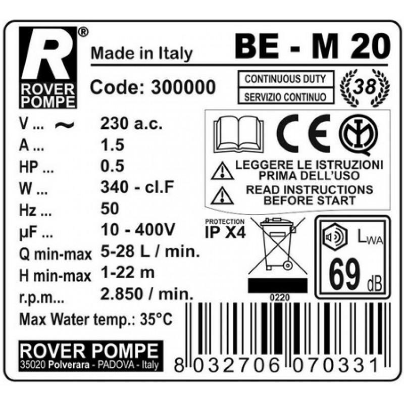 Elektrinis siurblys BE-M 20