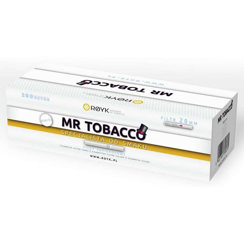 Cigarečių tūtelės MR TOBACCO WHITE 200