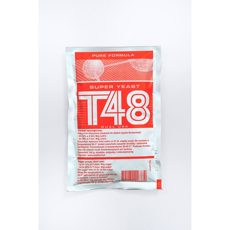 Super mielės T48