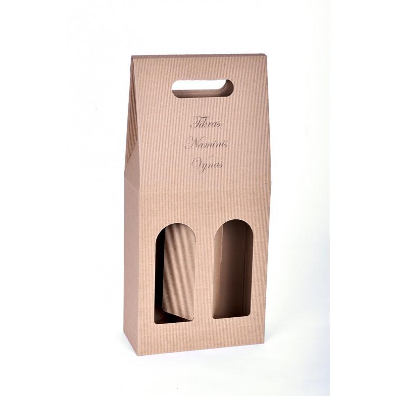 Dvivietė butelio dėžutė su užrašu