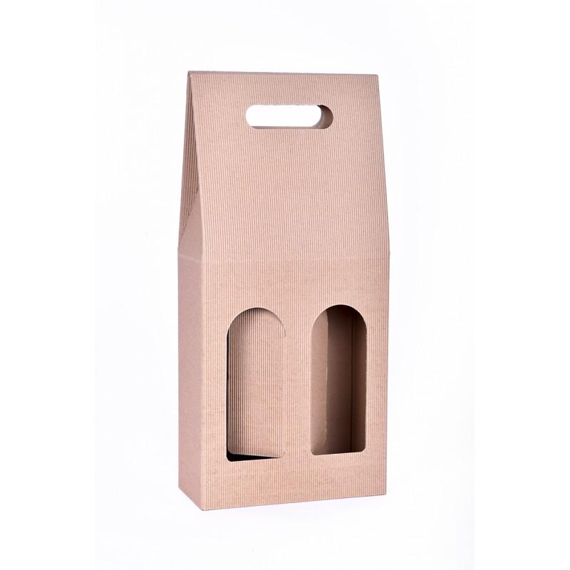Dvivietė butelio dėžutė su rankena