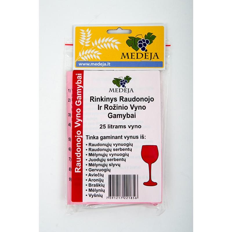 Rinkinys raudono vyno gamybai
