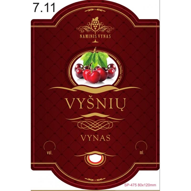 Etiketė BORDO Vyšnių vynas