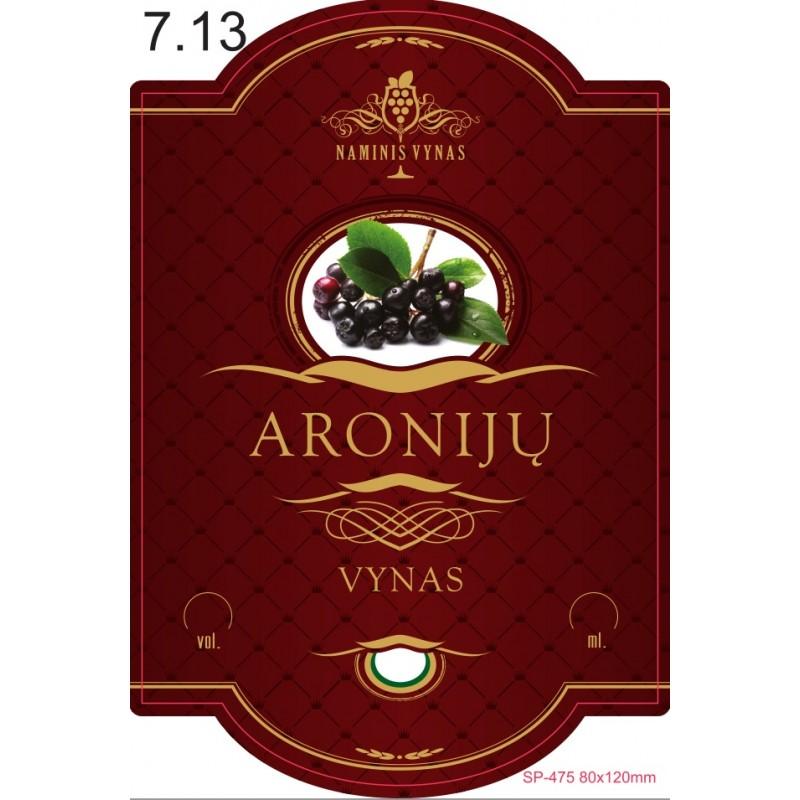 Etiketė BORDO Aronijų vynas