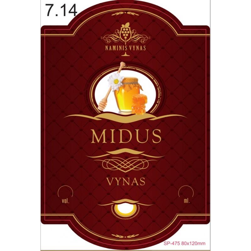 Etiketė BORDO Midus Lietuviškas