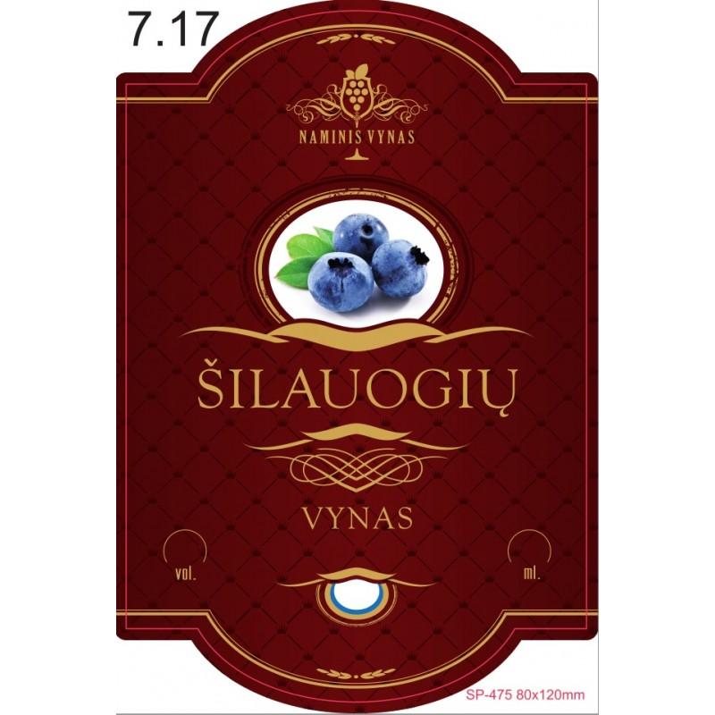 Etiketė BORDO Šilauogių vynas
