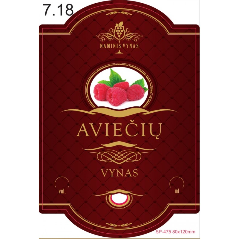 Etiketė BORDO Aviečių vynas