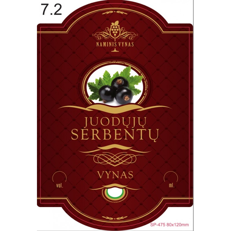 Etiketė BORDO Juodųjų serbentų vynas