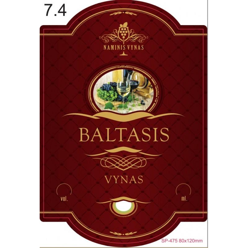 etiketė BORDO Baltasis vynas