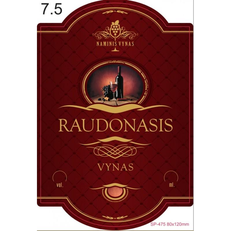 Etiketė BORDO Raudonasis vynas