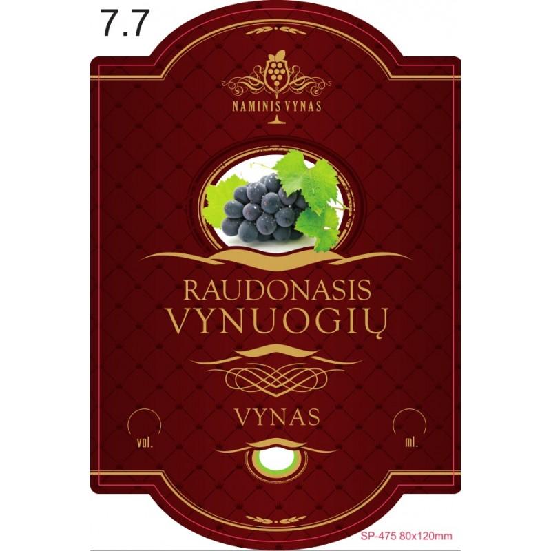 Etiketė BORDO Raudonasis vynuogių vynas