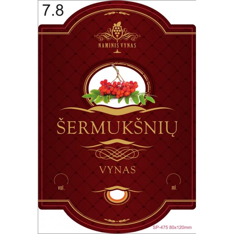 Etiketė BORDO Šermukšnių vynas