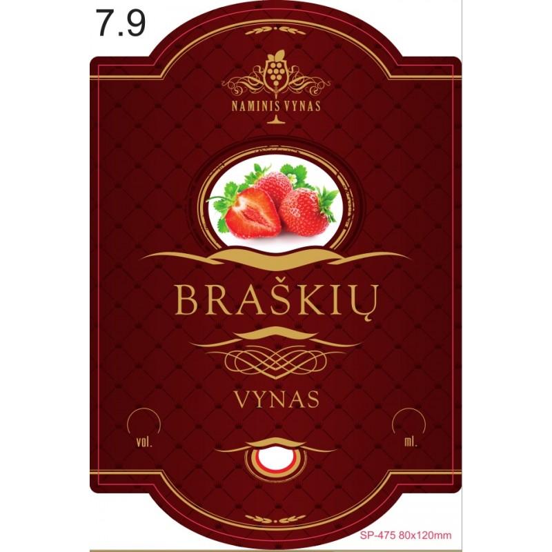 Etiketė BORDO Braškių vynas