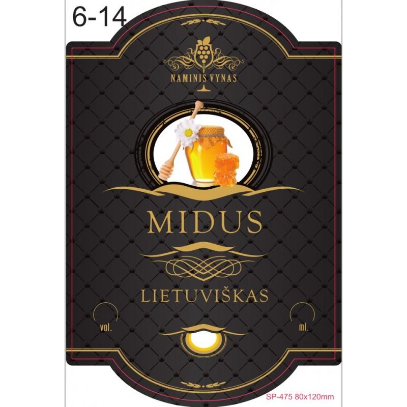 Etiketė JUODA Midus lietuviškas