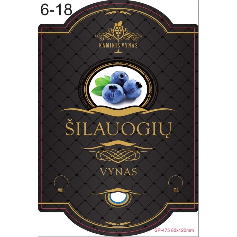 Etiketė JUODA Šilauogių vynas
