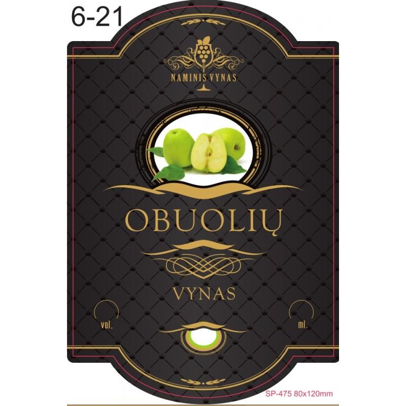 Etiketė JUODA Obuolių vynas