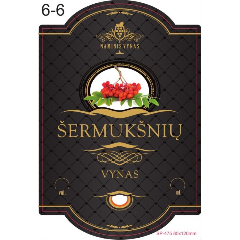 Etiketė JUODA Šermukšnių vynas