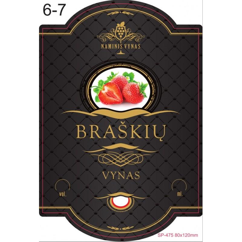 Etiketė JUODA braškių vynas