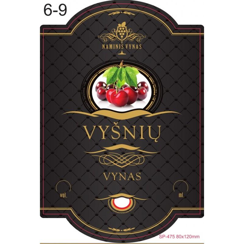 Etiketė JUODA Vyšnių vynas