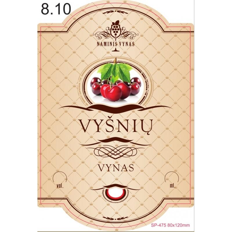 Etiketė KREMINĖ Vyšnių vynas