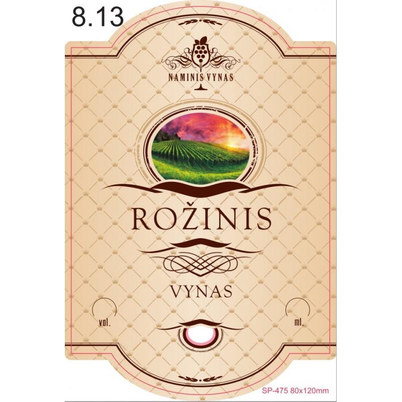 Etiketė KREMINĖ Rožinis vynas