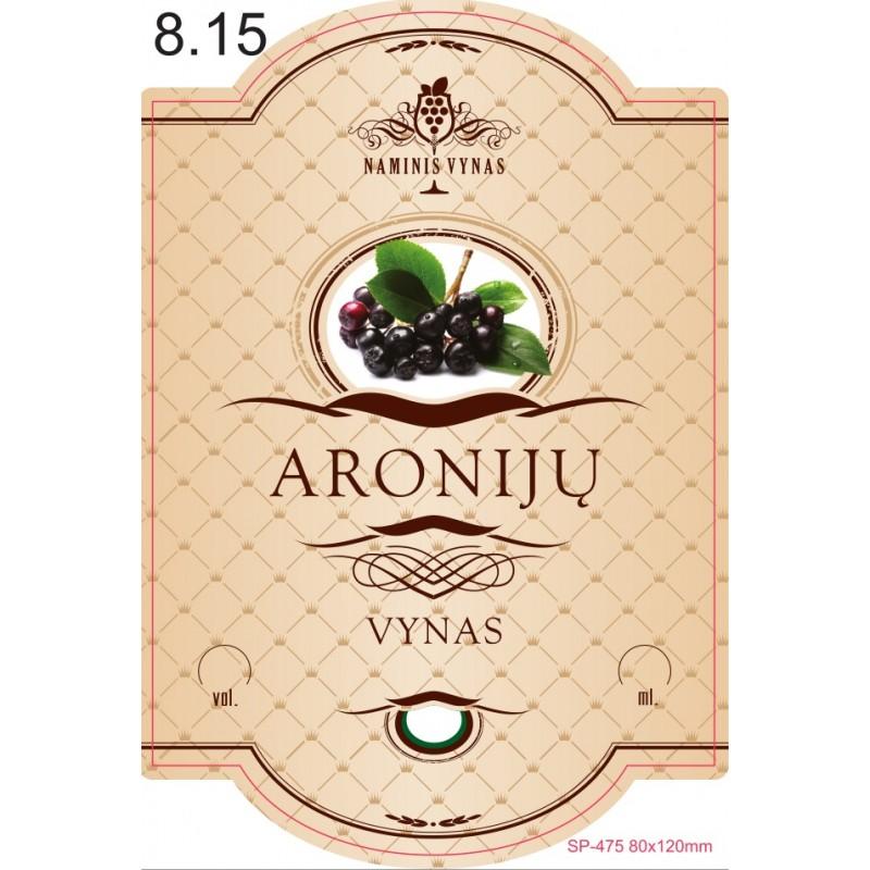Etiketė KREMINĖ Aronijų vynas