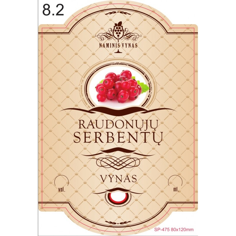 Etiketė KREMINĖ  Raudonųjų serbentų vynas
