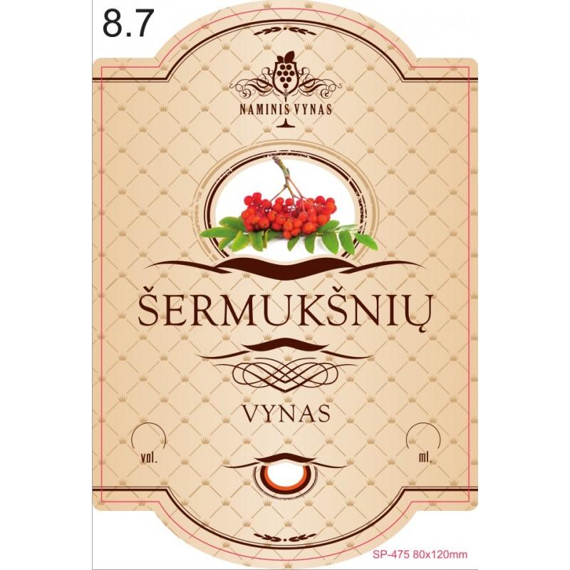 Etiketė KREMINĖ Šermukšnių vynas