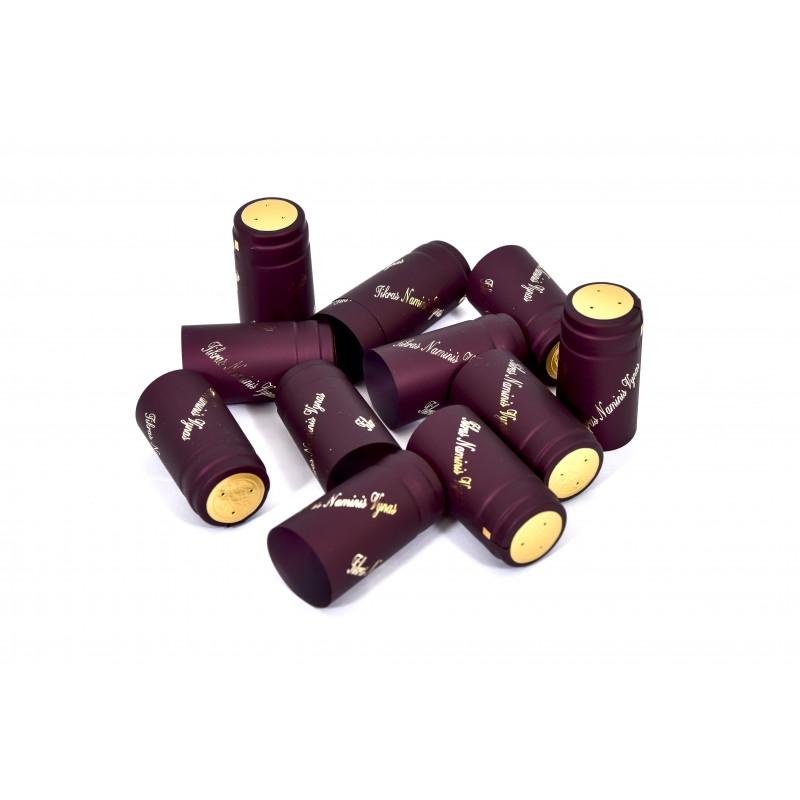 Termokapsulės vynui BORDO (Metalik) su užrašu TIKRAS NAMINIS VYNAS 30vnt.